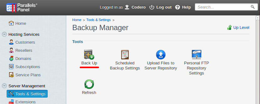 backup manager-backup icon